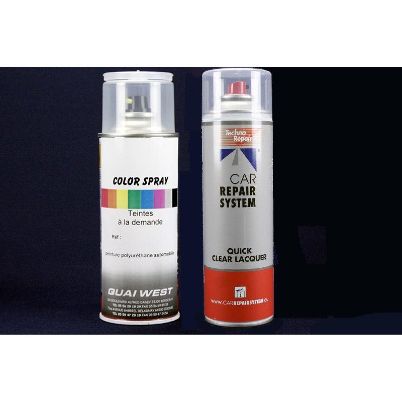 Kit de Bombes de Peintures Métallisées + bombe de vernis