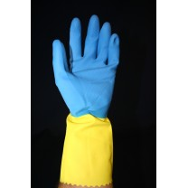 Gants latex duocolor