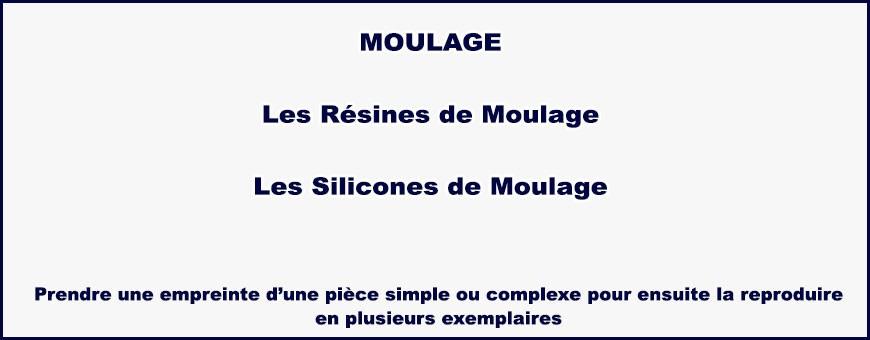 Moulage : Résine acrylique, réssine polyester de coulée, elastmère de silicone