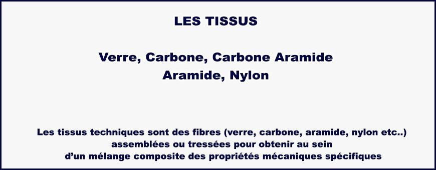 Tissus à base de fibre de verre, nylon, carbone, aramide