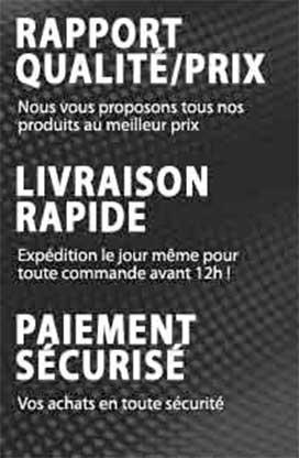 Livraison - Paiement - Rapport Qualité / Prix
